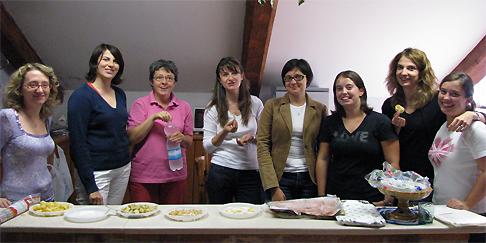 Alessandra, Katya, Bruna, Roberta, Giulia, Mariachiara, Francesca, Angela: <br>le donne del Direttivo TGS a Chioggia, 26 Settembre 2009.