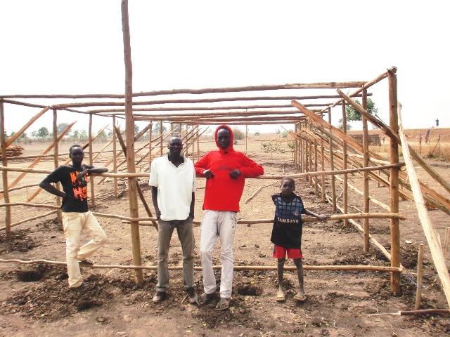 Nuova aula studio in costruzione nel villaggio di Matar, Etiopia.