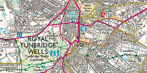 TunbridgeWells Ordnance Survey Map