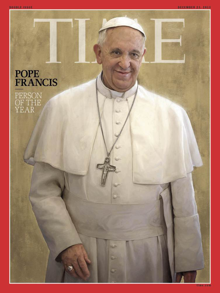Time magazine: Popoe Francis Person of the Year 2013