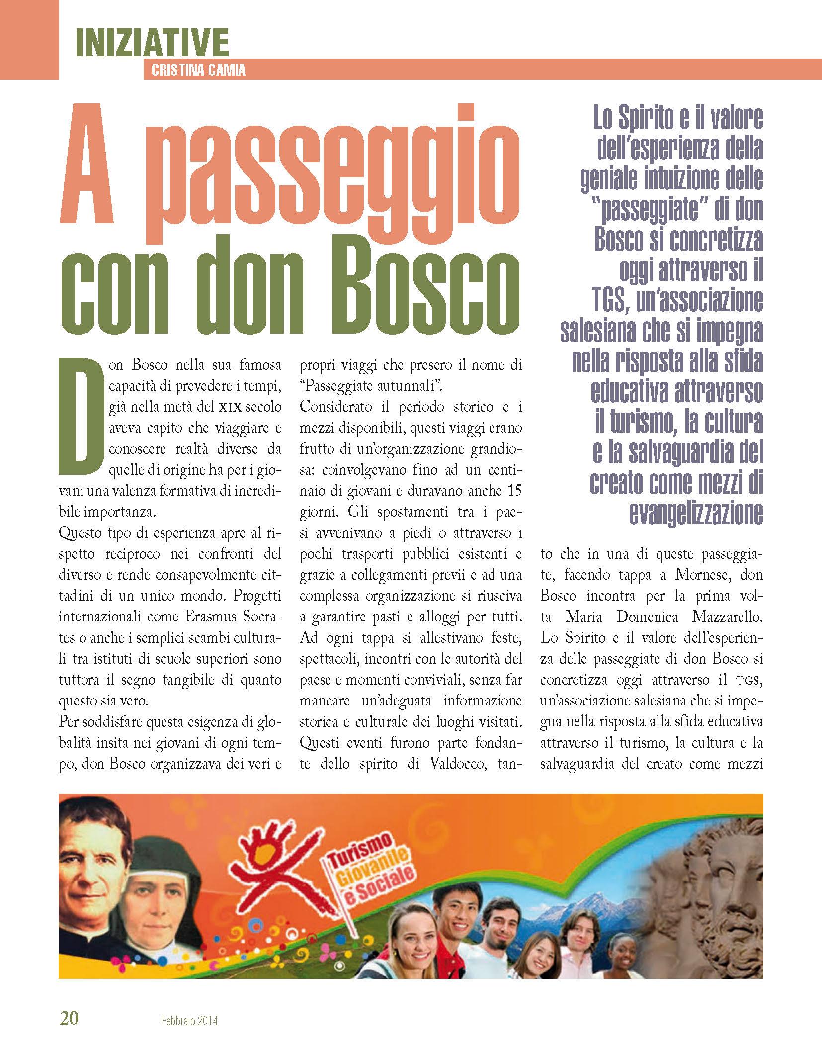 Bollettino Salesiano - Febbraio 2014 - A passeggio con don Bosco_Page_1